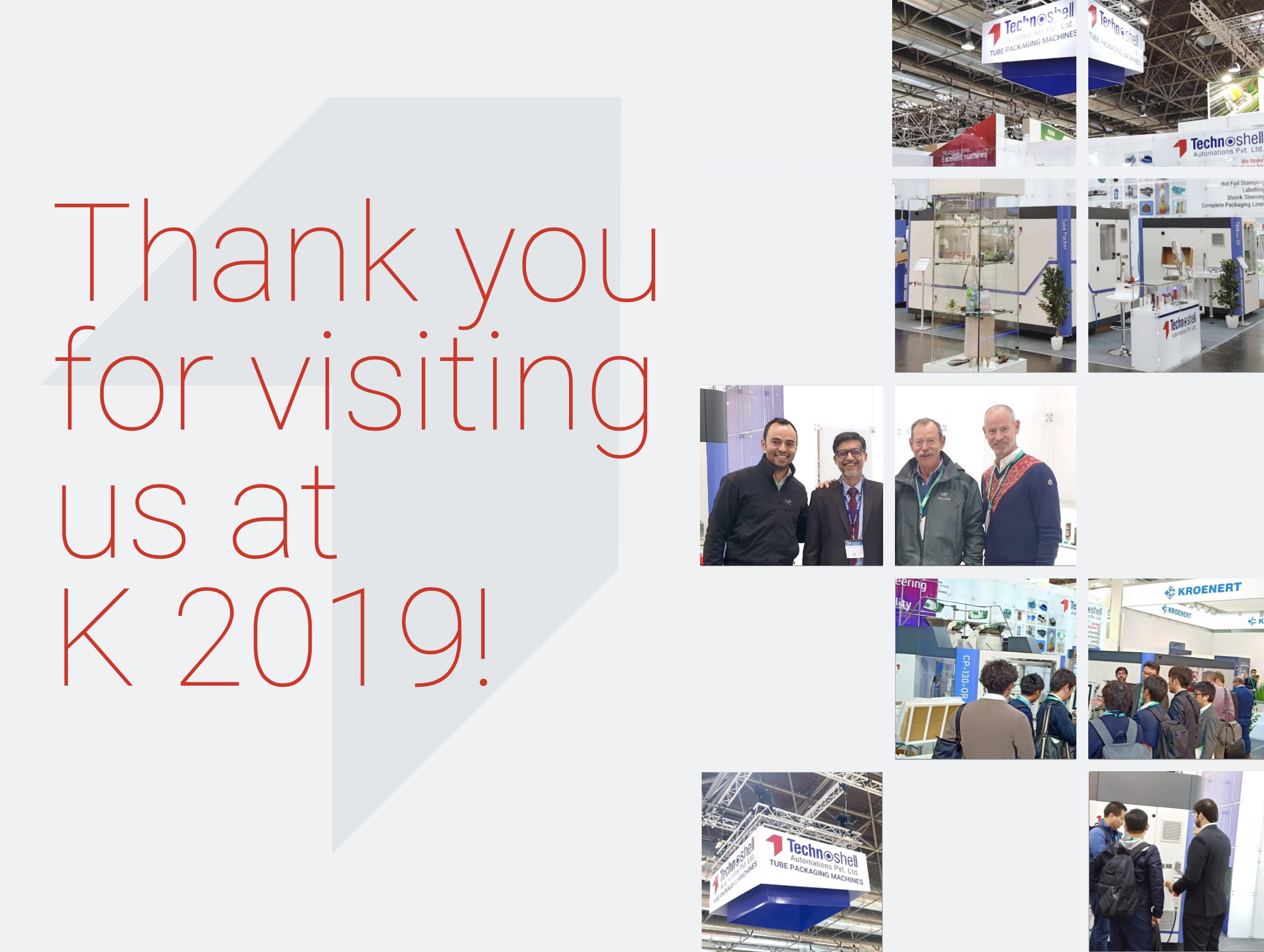 Thank You for Visiting us at K 2019